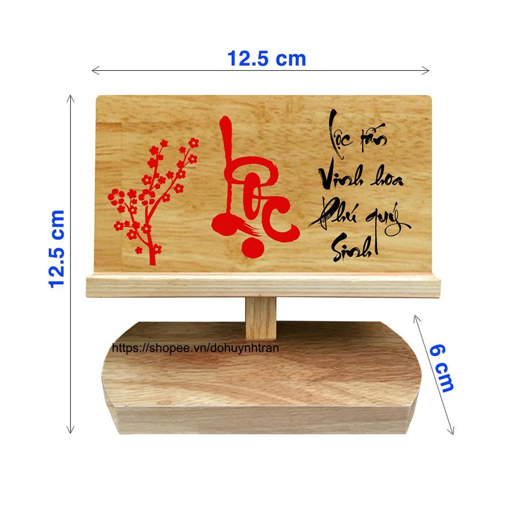 Giá đỡ điện thoại bằng gỗ (chữ Lộc)