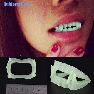 Set 10 răng nanh ma cà rồng giả phát sáng hóa trang Halloween thumbnail