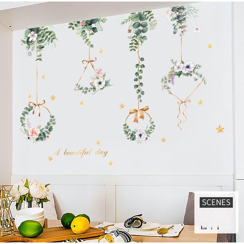 [Hàng đẹp] Decan dán tường hoa nguyệt quế B13