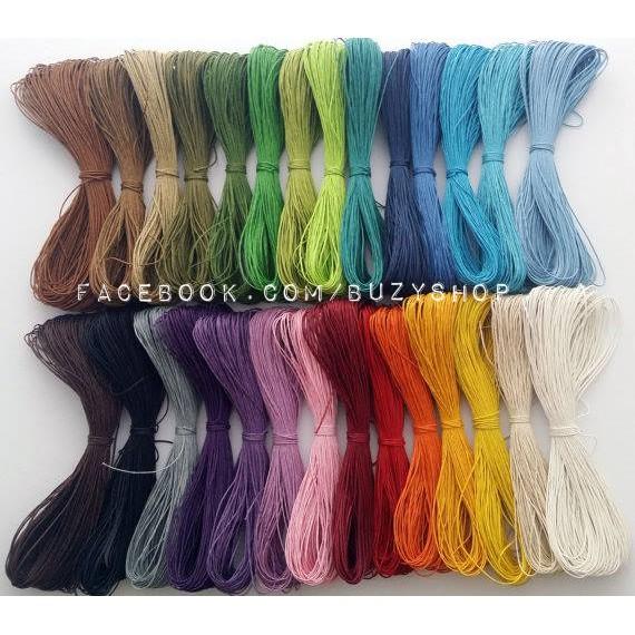 [THÊM MÀU MỚI] (mã 1-19) dây cói 1mm (thắt vòng tay, đan lưới dreamcatcher,..)