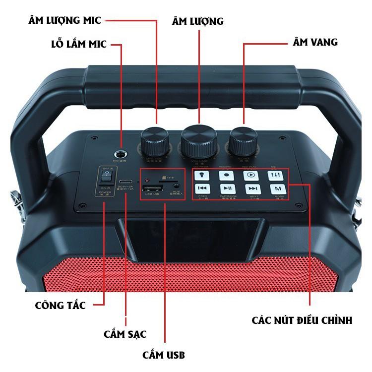 Loa Bluetooth W-King K1S VIMU - Loa karaoke không dây, công suất 40W