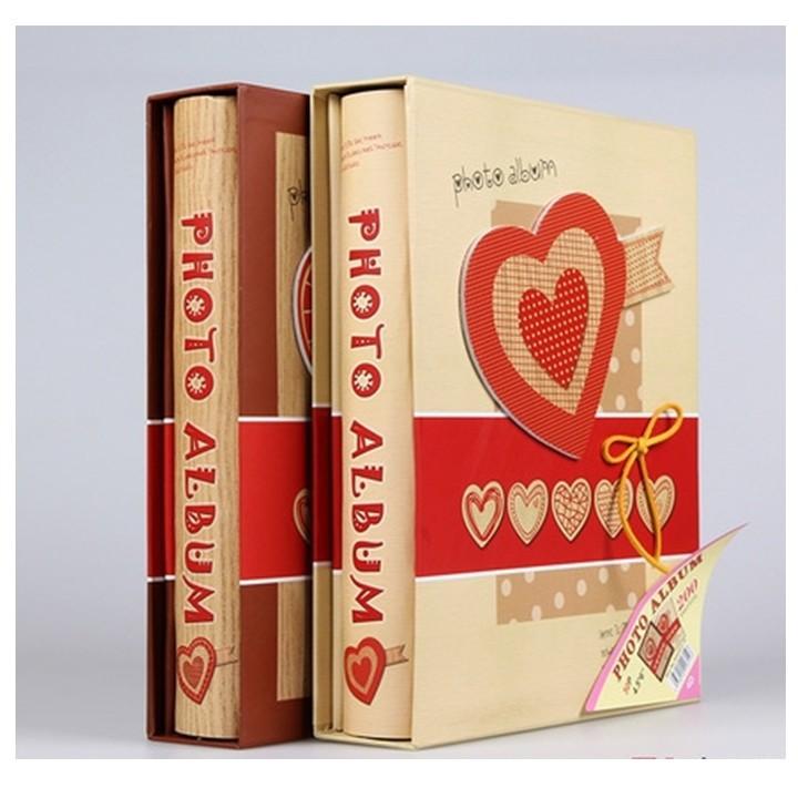 Album 200 ảnh 10x15 bìa trái tim đỏ