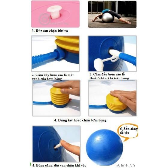 Bơm tay mini bơm bóng bơm phao bơi