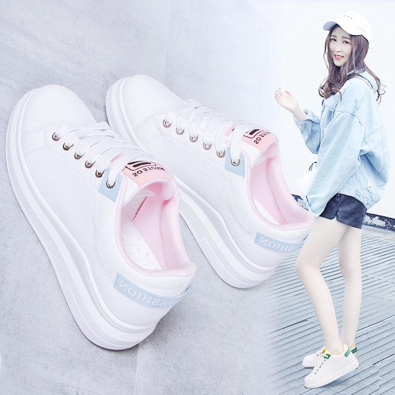 Giày thể thao đế dày phong cách Hàn Quốc hợp thời trang 2020 cho nữ