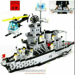 Lego enlighten 112 – tàu pháo tuần dương có bãi đáp trực thăng
