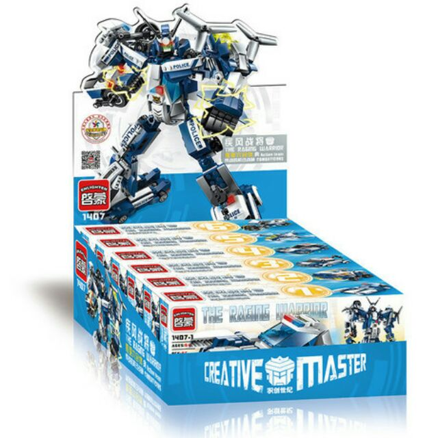 Bộ lego 6 in 1 Enlighten 1407- mô hình robot