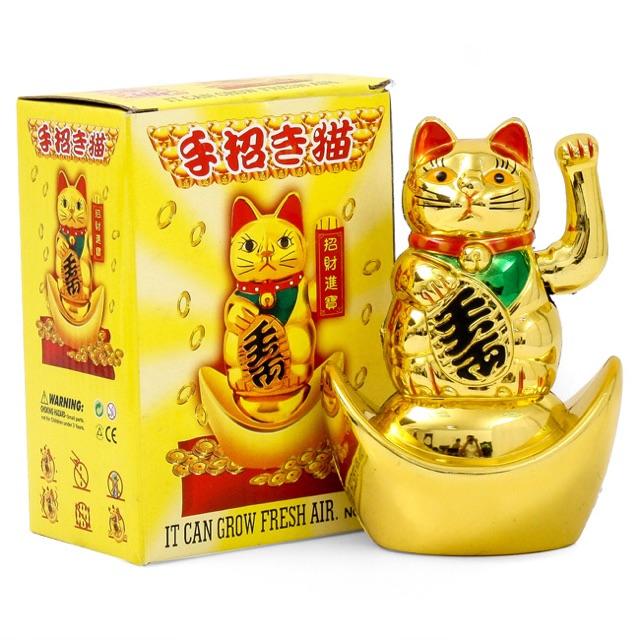 [SALE 10%] Mèo thần tài may mắn vàng bóng, đem tài lộc và bình an đến nhà