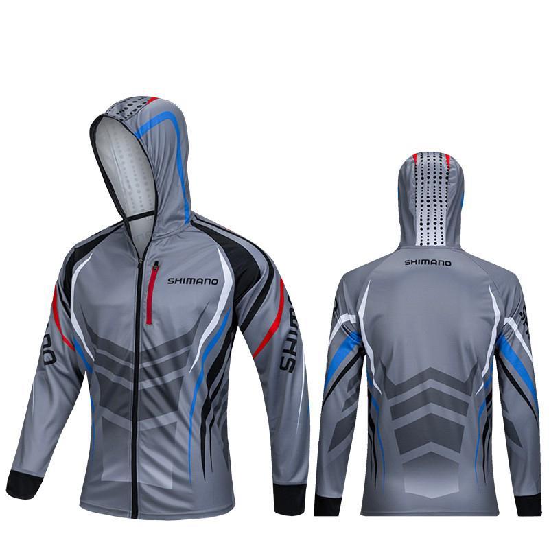 2020 New Shimano Fishing Clothing Breathable Sunscreen Quick Drying Fishing Shirts áo câu cá