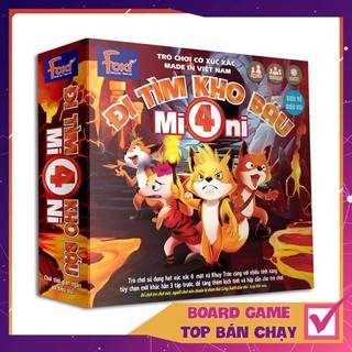 [KHÔNG HAY TRẢ TIỀN] Board game-Đi tìm kho báu Mini 4 Foxi-trò chơi phát triển khả năng nhớ-logic-suy luận-phán đoán