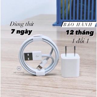 Bộ Củ Cáp Iphone [Bh 12 Tháng ] Dây Sạc Iphone Lightning Không Nóng Máy Dành Cho Dòng Ip 5/6/6s/7/8/X/Xsmax – HP STORE