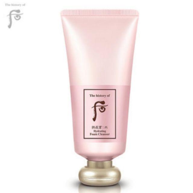 Sữa rửa mặt whoo hồng Hydrating foam cleanser full 180ml