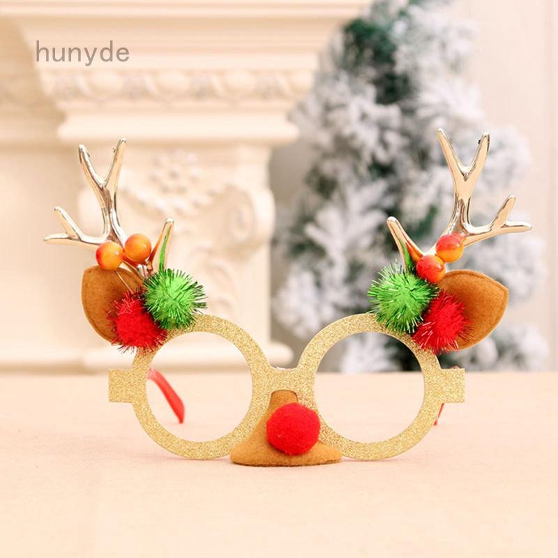 Kids Adult Christmas Sunglass Eyeglass Costume Eye Frame Party Decor