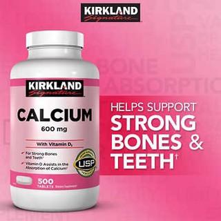 Viên uống bổ sung canxi và vitamin D3, Calcium 600mg. with Vitamin D3, 500 viên