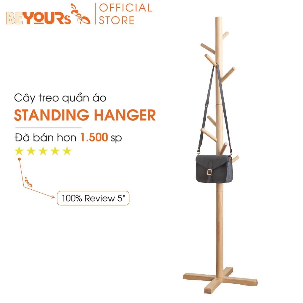 Cây Treo Quần Áo Gỗ BEYOURs Standing Hanger Kệ Sào Treo Đồ Đứng Nội Thất Kiểu Han Lắp Ráp