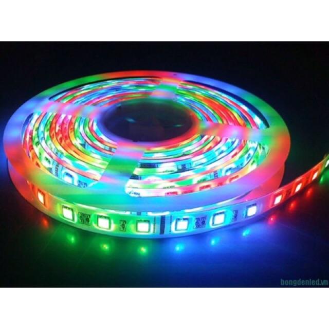 Combo đèn led 12V nhiều màu loại to 5050 kèm nguồn + Remode