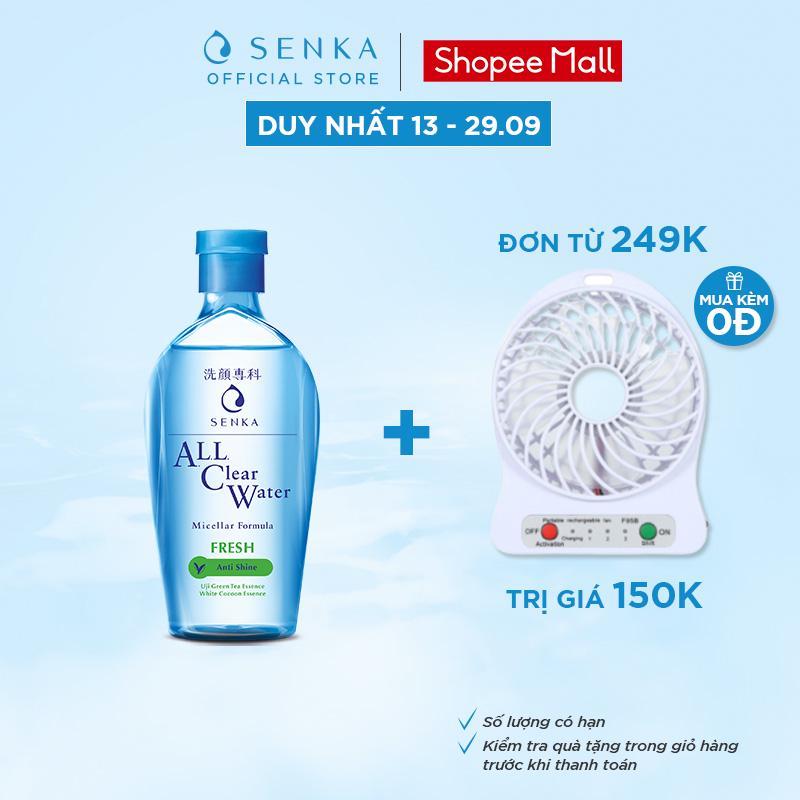 Nước tẩy trang Micellar Senka A.L.L Clear Water Fresh 230ml_15288