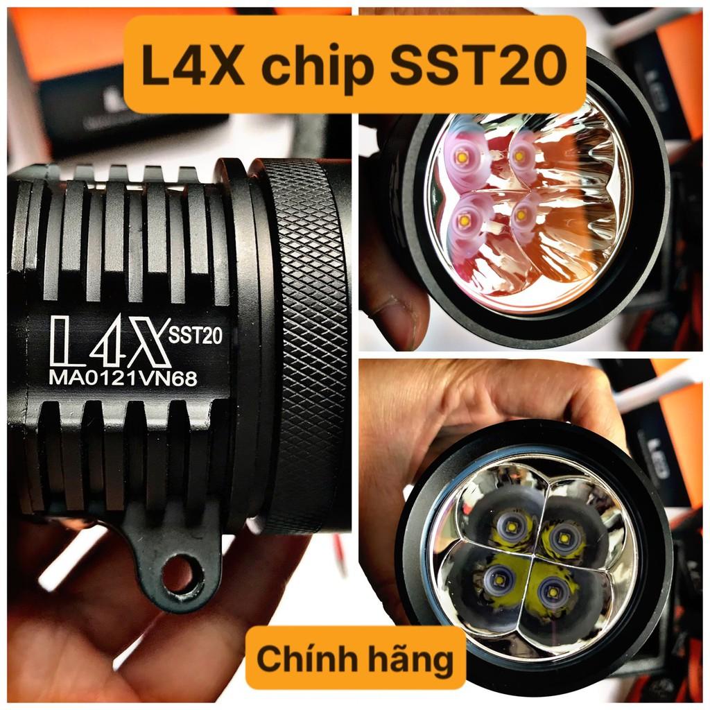 [TẶNG 4 PHỤ KIỆN] 1 đèn trợ sáng L4X chính hãng MA RCING chip SST20 CNC cực sáng và đẹp - 35W - Đèn xe Việt