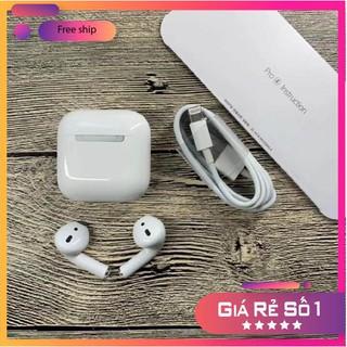 Tai Nghe Không Dây Bluetooth Airpods Pro 4-Tai nghe nhét tai không dây Pro 4 Chống ồn-Xuyên âm-,Cảm Biến 1 Chạm new 2021