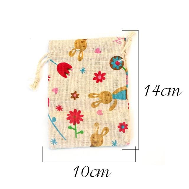 Túi vải dây rút màu sắc dễ thương đựng cốc nguyệt san, nữ trang, mỹ phẩm0