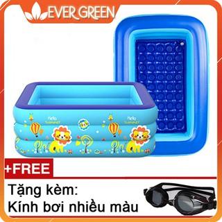 Bể bơi phao 3 tầng 1m5, tặng kèm kính bơi cho bé [Evergreen]