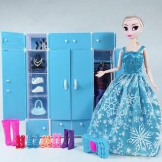 Tủ quần áo búp bê Elsa dễ thương