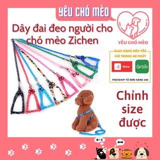 Dây đai dắt chó mèo - dây đai cho chó mèo Zichen - chỉnh được kích cỡ thumbnail