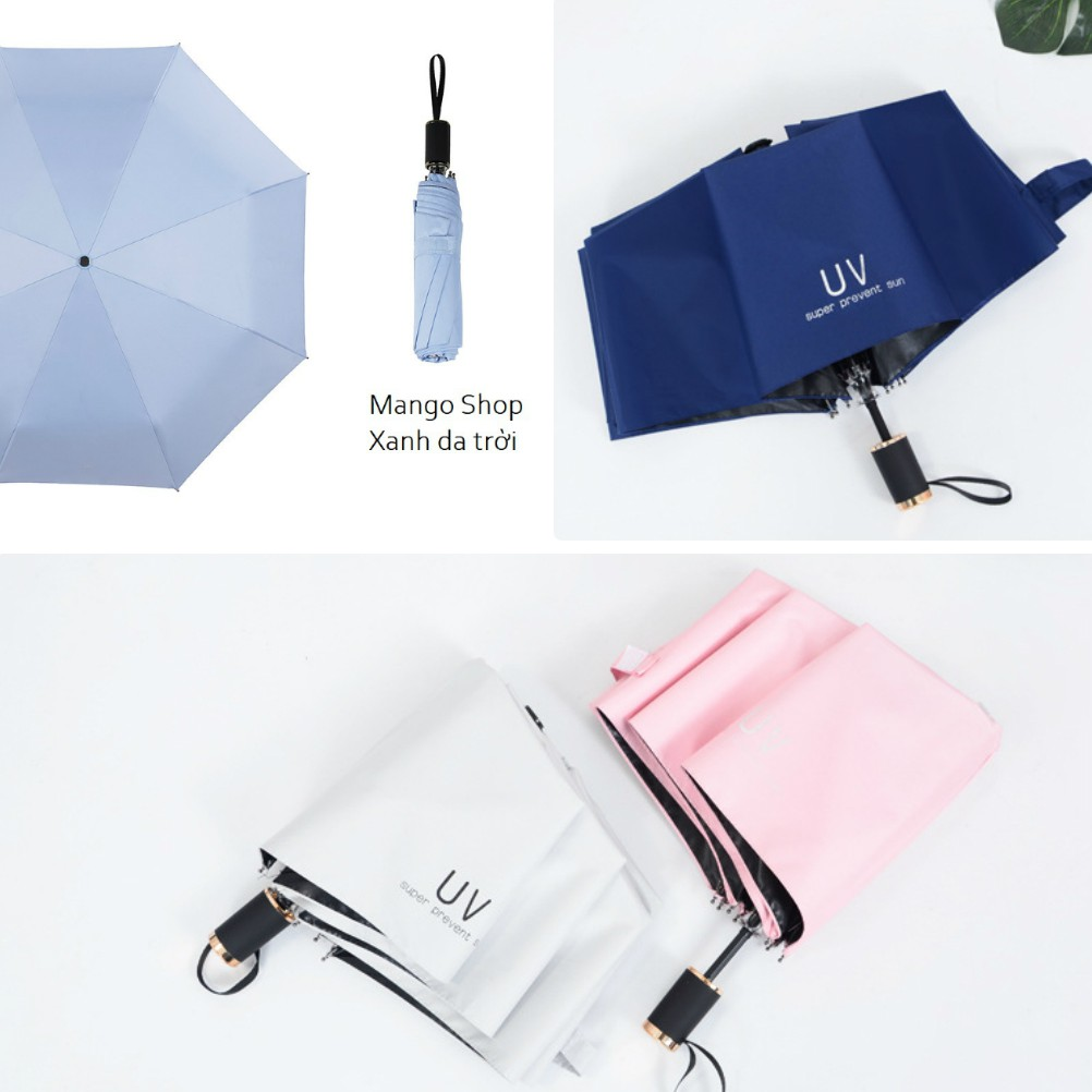 Ô chống tia UV TRƠN loại xịn có tay cầm viền kim loại ( Ô dù hàng nội địa  Trung Quốc loại xịn ) | Shopee Việt Nam
