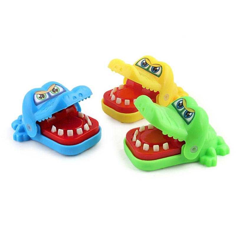BLM❤Funny Large Crocodile Shark Mouth Dentist Bite Finger Game Family Toy