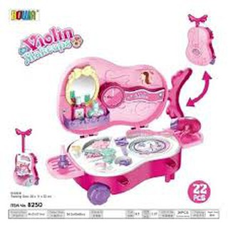 (Giảm cực manh) Đồ chơi trang điểm có valy hình cây đàn siêu đẹp dành cho bé gái