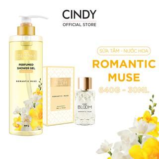 Combo Sữa Tắm Nước Hoa 640g & Nước Hoa 30ml Cindy Bloom Romantic Muse thumbnail