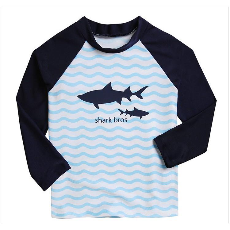 Đồ Bơi Trẻ Em - Áo Bơi Dài Tay Cho Bé Trai Kèm Quần Lửng Mẫu Cá Mập SPORTY SW334