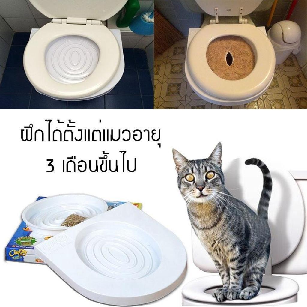 CitiKitty อุปกรณ์ฝึกแมวเข้าห้องน้ำ ที่ฝึกแมวนั่งชักโครก ที่ฝึกการขับถ่ายของแมว ห้องน้ำแมว กระบะทรายแมว สำหรััตว์เลี้ยง C