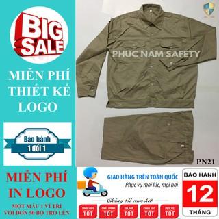 Bộ quần áo bảo hộ lao động PN21 - màu nâu đất, quần áo bảo hộ lao động, Bảo hộ lao động Phúc Nam thumbnail