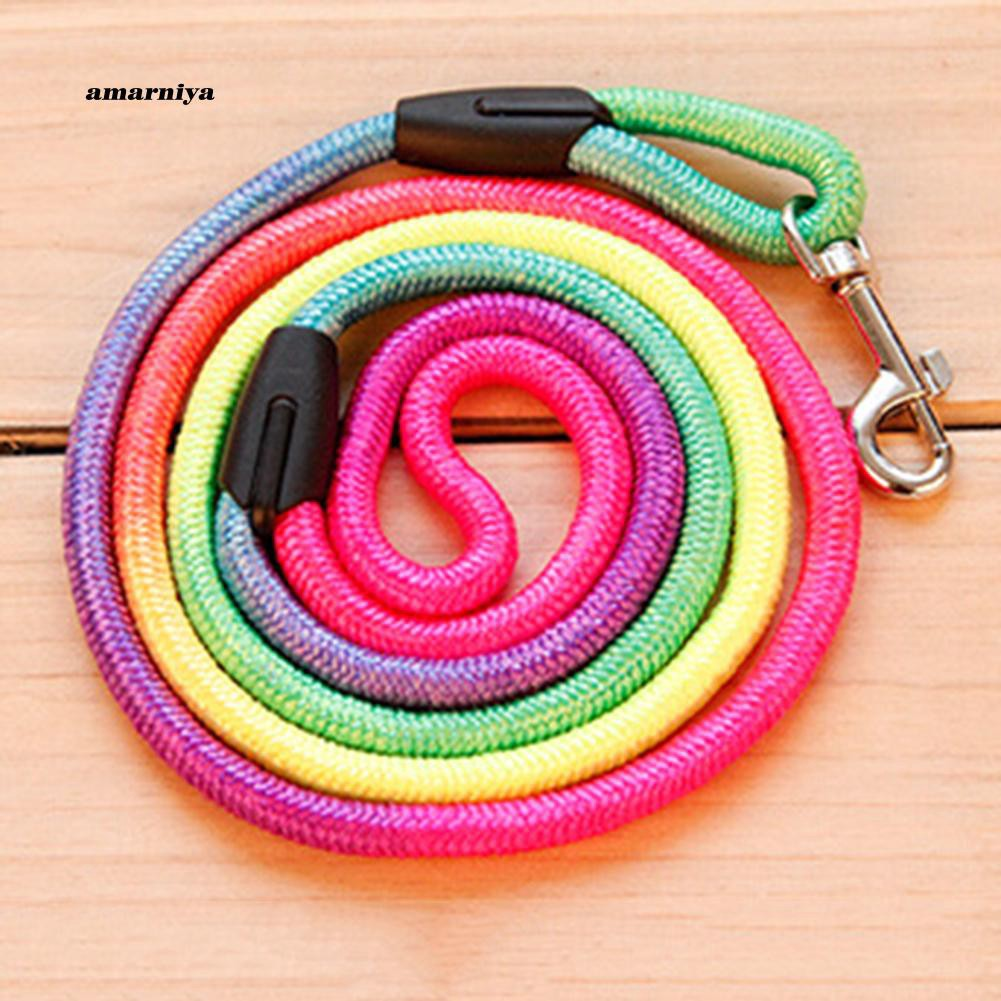 AMA♥Colorful TractionRope Nylon Walking Leash Training Lead Strap for Pet Dog Puppy