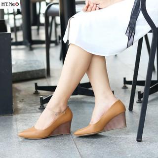 Giày nữ đế xuồng - Giày công sở nữ HT.NEO da bò thật 100% êm và cực mềm chân tôn dáng sang chảnh cực đẹp mắt CS69 thumbnail
