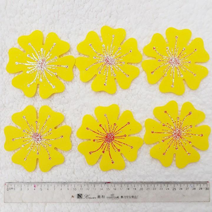 Combo 6 bông hoa mai xốp 10,5cm trang trí Tết