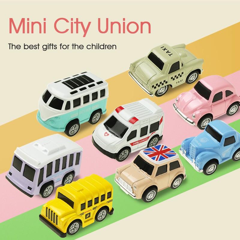 Set 8 xe đồ chơi mini bằng hợp kim cho bé