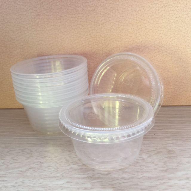 100 hộp nhựa đựng nước chấm kèm nắp (50ml)