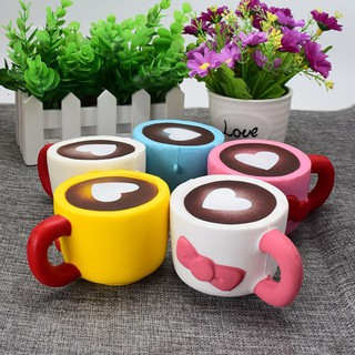 zWX_Squishy Slow Rising Love Coffee Cup Stress Reliever Kids Adult Squeeze Toys Giftt