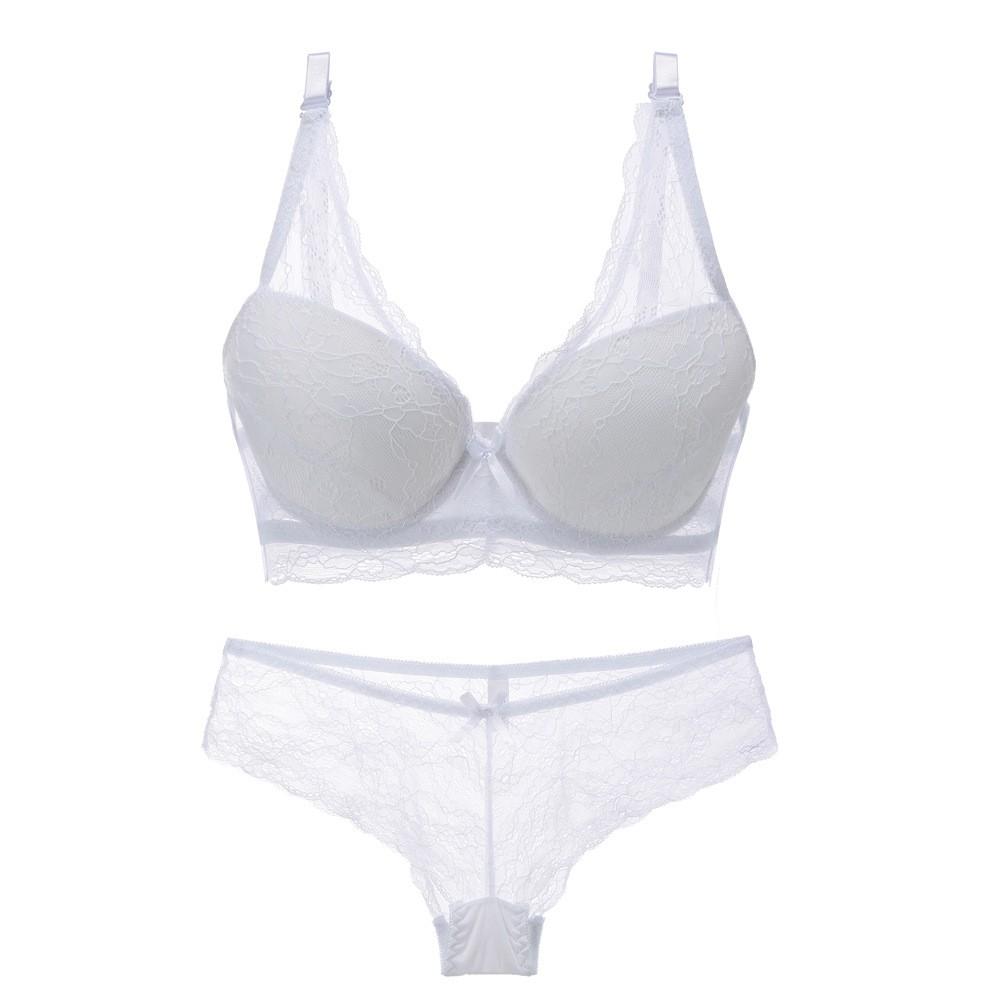 [Freeship 50k] Bộ đồ lót đệm nâng ngực quần tam giác xuyên thấu | SaleOff247