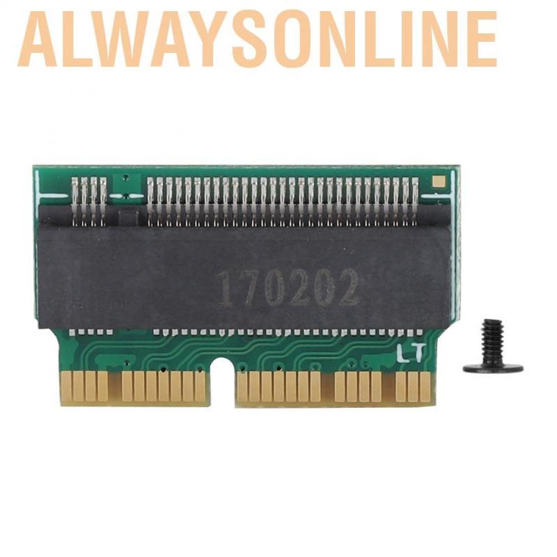 Alwaysonline Hard Disk to NVME SSD Adapter Concerter Card for 2013 2014 2015 MAC BOOK