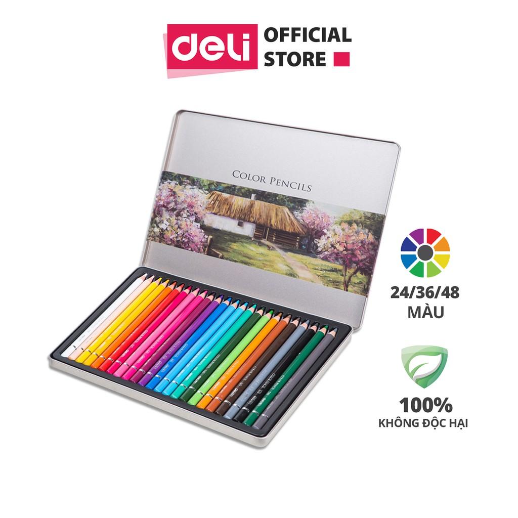 Bút chì màu gốc dầu cao cấp Deli - 6565 / 6566 / 6567