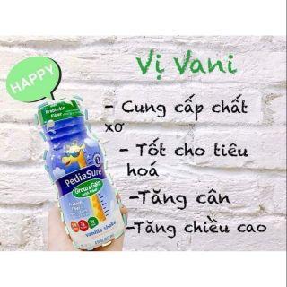 🥕Date 2022🥑Combo 24 chai sữa nước Pediasure mỹ vị vani bổ sung chất xơ 237ml🌽🍎