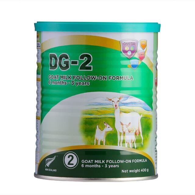 Sữa Dê DG số 2 400g cho bé 6-36 tháng