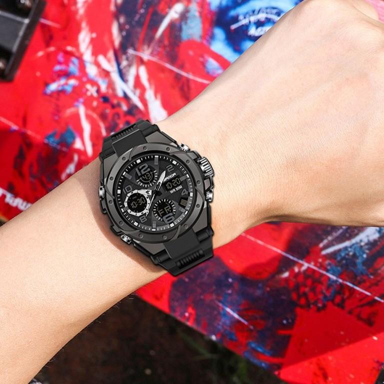 Đồng hồ nam SANDA 6018 chính hãng viền thép xoáy , chống nước bền bỉ , mạnh mẽ-Gozid.watches