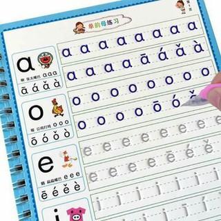 Bộ 3 vở tô màu tập viết tự xóa thần kỳ kèm bút cho bé