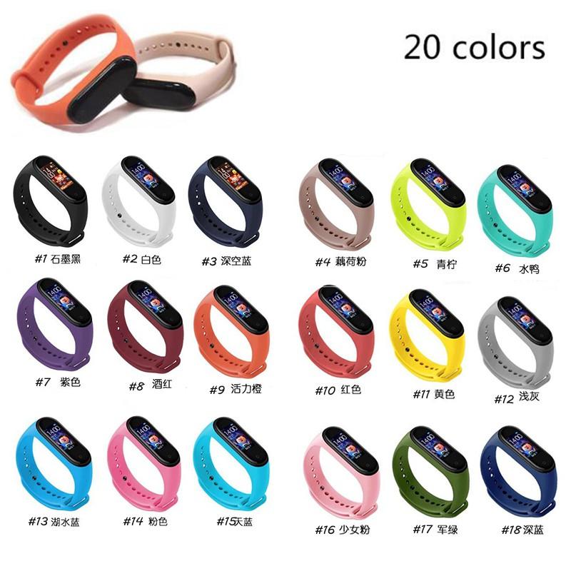 Dây đeo thay thế đồng hồ chất liệu TPU thiết kế nhiều lỗ thời trang cho Xiaomi Mi Band 3/4
