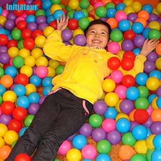 [Initiatour 50X Ball Soft Plastic Ocean Ball Baby Kid Toy Swim Pit Toy Multicolor Round