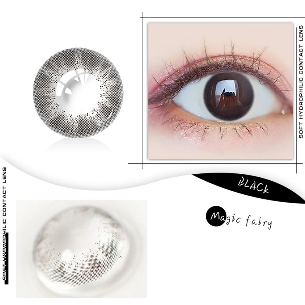 Simrises Round Big Eyes Cosmetic Contact Lenses Makeup 0 Degree Eyewear Party Cosplay