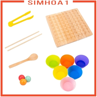 [SIMHOA1] Hands Brain Training Clip Beads Kid Montessory Game Educational Puzzle Toy